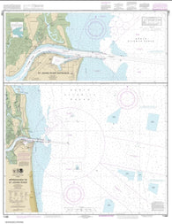 Buy map Approaches to St. Johns River; St. Johns River Entrance (11490-21) by NOAA