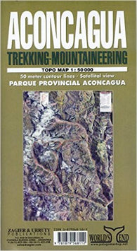 Buy map Aconcagua, Argentina, Trekking and Mountaineering Map by Zagier y Urruty