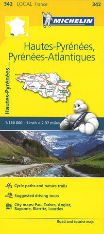 Buy map Michelin: Hautes Pyrenees, Pyrenees Atlantique, France Road and Tourist Map by Michelin Travel Partner