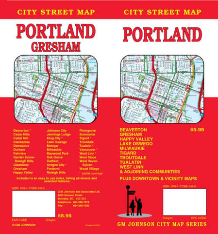 Buy map Portland, Oregon and Vicinity by GM Johnson