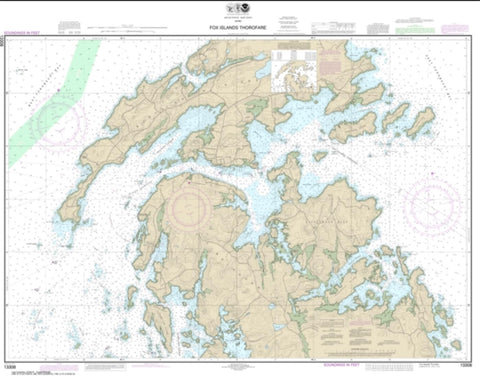 Buy map Fox Islands Thorofare (13308-13) by NOAA