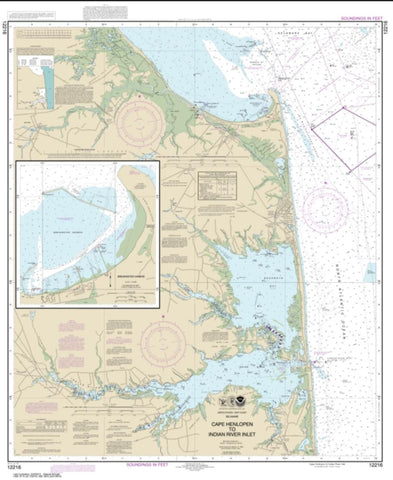 Buy map Cape Henlopen to Indian River Inlet; Breakwater Harbor (12216-29) by NOAA