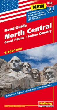 Buy map USA 2: North Central, Great Plains and Indian Country by Hallwag
