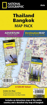 Buy map Thailand & Bangkok Map Pack Bundle by National Geographic Maps