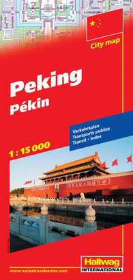 Buy map Beijing/Peking, China by Hallwag