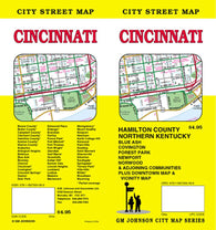 Buy map Cincinnati, Ohio by GM Johnson