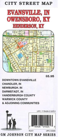Buy map Evansville, Indiana and Owensboro and Henderson, Kentucky by GM Johnson
