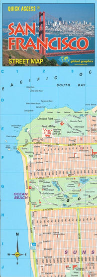 Buy map San Francisco, California, Quick Access Map by Global Graphics