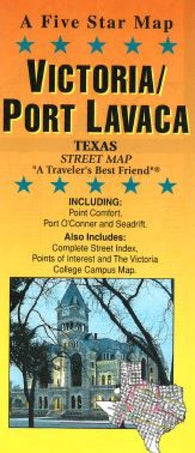Buy map Victoria and Port Lavaca, Texas by Five Star Maps, Inc.