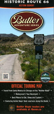 Buy map Route 66, West by Butler Motorcycle Maps