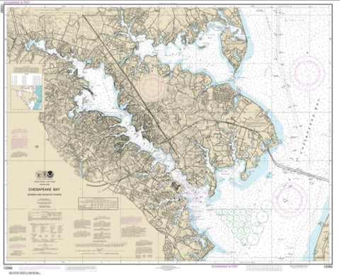 Buy map Chesapeake Bay Severn and Magothy Rivers (12282-36) by NOAA