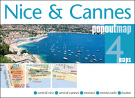 Buy map Nice and Cannes, France, PopOut Map by PopOut Products