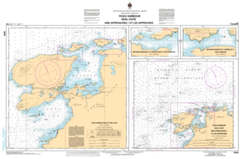 Buy map Fogo Harbour Seal Cove and Approaches/et les Approches by Canadian Hydrographic Service