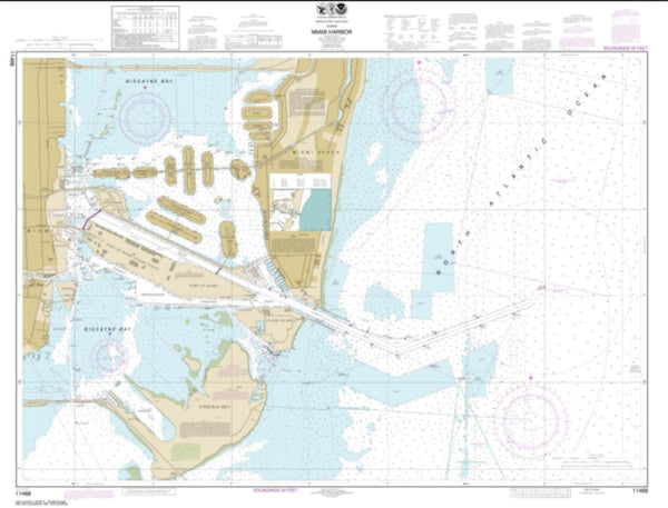 Buy map Miami Harbor (11468-44) by NOAA
