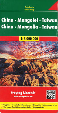 Buy map China, Mongolia and Taiwan by Freytag-Berndt und Artaria