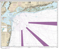 Buy map Approaches to New York Fire lsland Light to Sea Girt (12326-52) by NOAA