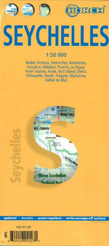 Buy map Seychelles by Borch GmbH.