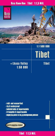 Buy map Tibet & Lhasa Valley by Reise Know-How Verlag