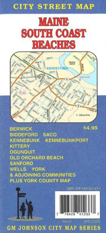 Buy map Maine, South Coast Beaches including Biddeford, Saco, York and Kennbunkport by GM Johnson