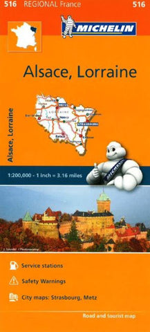Buy map Alsace, Lorraine (516) by Michelin Maps and Guides