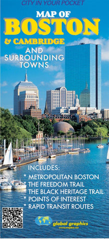Buy map Boston and Cambridge, Masschusetts, and Vicinity by Global Graphics