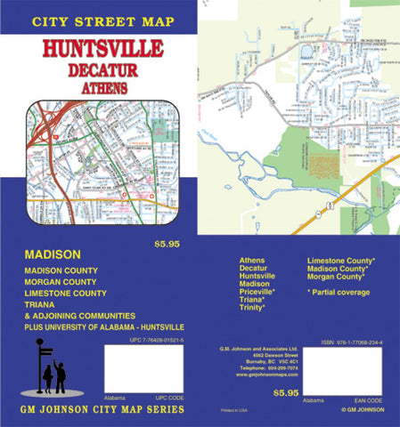 Buy map Harrisonburg and Rockingham County, Virginia by GM Johnson