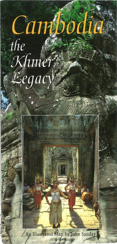 Buy map Cambodia: The Khmer Legacy by Odyssey Publications