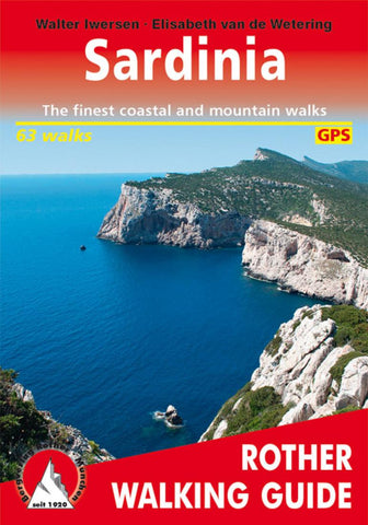 Buy map Sardinia, Rother Walking Guide by Rother Walking Guide, Bergverlag Rudolf Rother