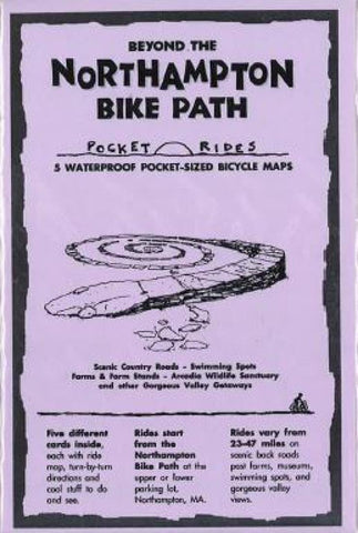 Buy map Beyond the Northampton Bike Path, Lam Biking Map Cards by Rubel BikeMaps