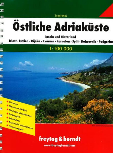 Buy map Adriatic Coast, Eastern, Atlas by Freytag-Berndt und Artaria