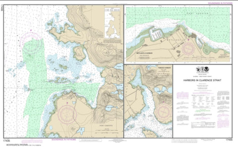 Buy map Harbors in Clarence Strait Port Chester, Annette Island; Tamgas Harbor, Annette Island; Metlakatla Harbor (17435-17) by NOAA