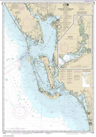 Buy map Estero Bay to Lemon Bay, including Charlotte Harbor; Continuation of Peace River (11426-38) by NOAA