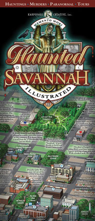 Buy map Savannah, Georgia, Haunted Map by Karpovage Creative, Inc.