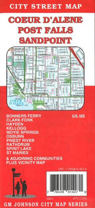 Buy map Coeur DAlene, Post Falls and Sandpoint, Idaho by GM Johnson