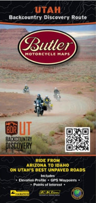 Buy map Utah Backcountry Discovery Route by Butler Motorcycle Maps