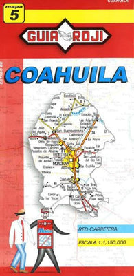 Buy map Coahuila, Mexico, State Map by Guia Roji