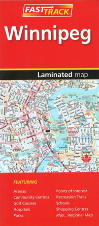 Buy map Winnipeg, Manitoba Fast Track Laminated Map by Canadian Cartographics Corporation