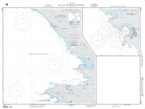 Buy map San Juan Del Sur And Approaches (NGA-21547-2) by National Geospatial-Intelligence Agency