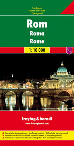 Buy map Rome, Italy by Freytag-Berndt und Artaria