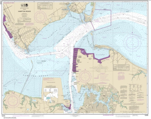 Buy map Hampton Roads (12245-68) by NOAA