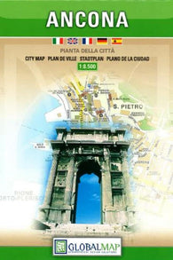 Buy map Ancona, Italy by Litografia Artistica Cartografica