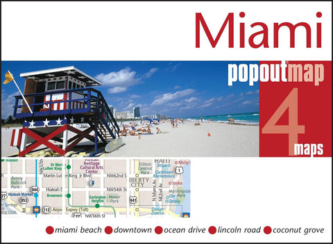 Buy map Miami, Florida, PopOut Map by PopOut Products