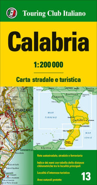 Buy map Calabria,Italy by Touring Club Italiano