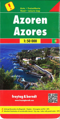 Buy map Azores by Freytag-Berndt und Artaria