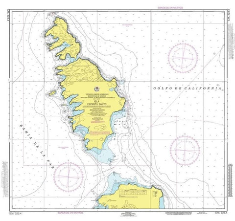 Buy map Isla Espiritu Santo by Secretaria de Marina