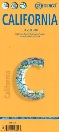 Buy map California by Borch GmbH.