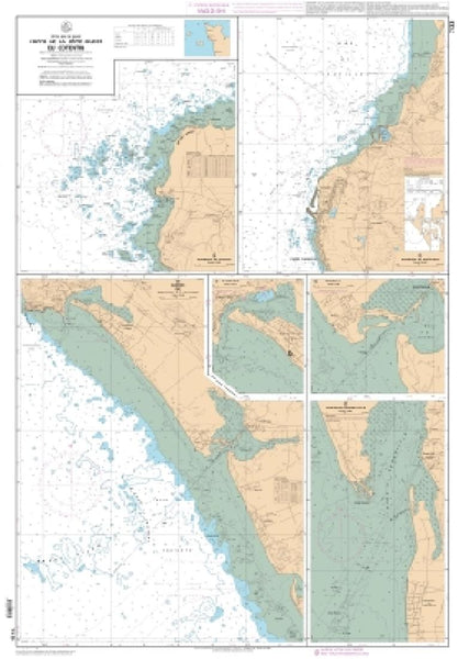 Buy map Abords de Carteret et Portbail by SHOM