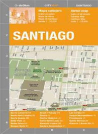 Buy map Santiago, Chile by deDios