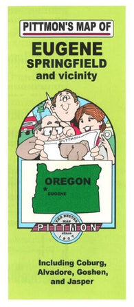Buy map Eugene and Springfield, Oregon Vicinity by Pittmon Map Company