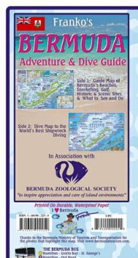 Buy map Bermuda Map, Bermuda Guide and Dive, folded, 2011 by Frankos Maps Ltd.